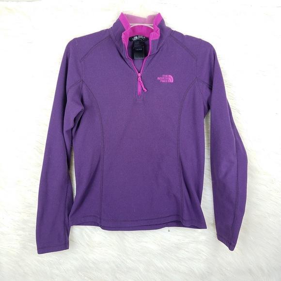 The north face quarter zip popover fleece hoodie